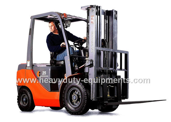 China 4 Cylinder Gasoline Forklift Loading Truck 2070mm Overhead Guard Height supplier