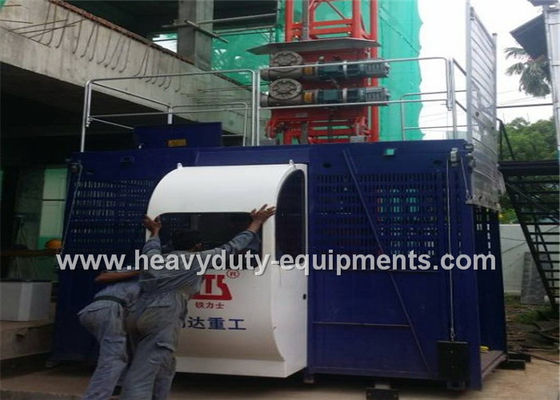 China Construction elevators rated lifting speed 36m/min used at the site of large chimney construction supplier
