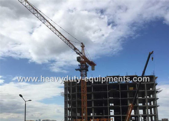 China Tower crane with free height 40m and max load 6 T with warranty for construction supplier