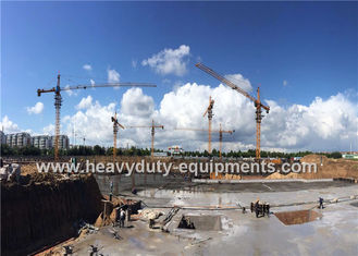China Tower crane with free height 41m and max load 6 tons for construction supplier