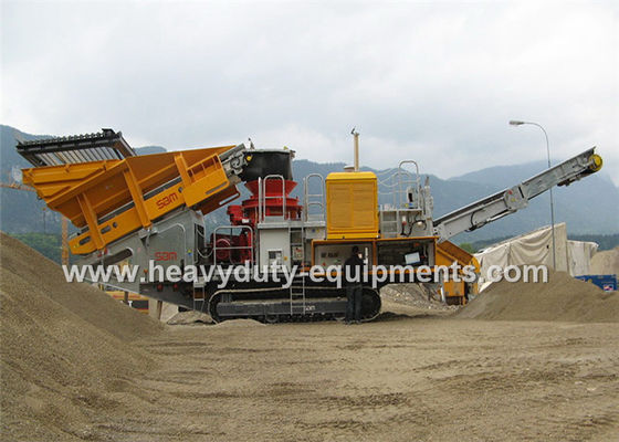 China Mobile impact Crusher / Stone Crusher Machine with Two Spindle Car Body supplier