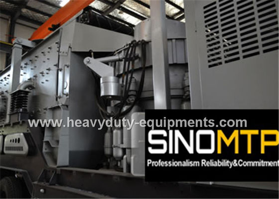 China Mobile Cone Stone Crusher Machine Three - Spindle with 4-30 kw Vibrating Screen supplier