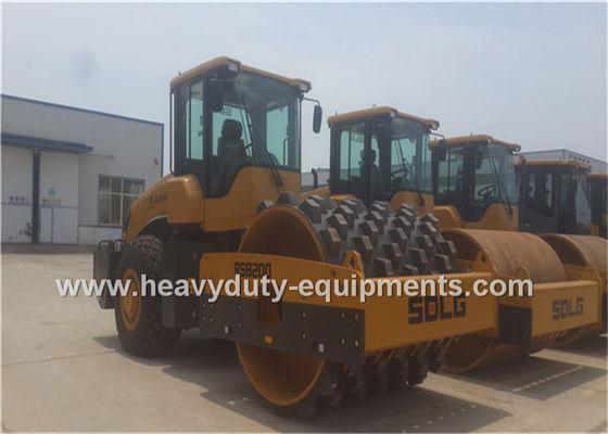 China 20Tons Steel Single Drum Road Roller Road Construction Equipment With Padfoot Movable supplier