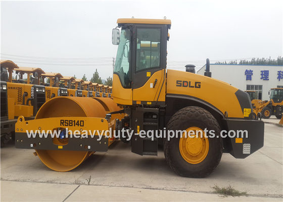 China SDLG RS8140 14 Ton Single Drum Road Roller 30Hz Frequency With Weichai Engine supplier