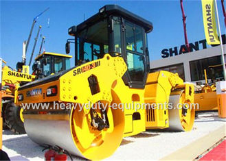 China Double drum vibratory road roller SR14D-3with 14ton operating weight with cummins engine supplier