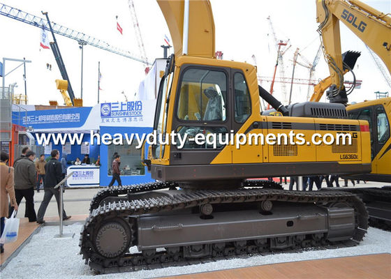 China 4.5km / h Hydraulic Crawler Excavator SDLG LG6360E 37800kg Overall Operating Weight supplier
