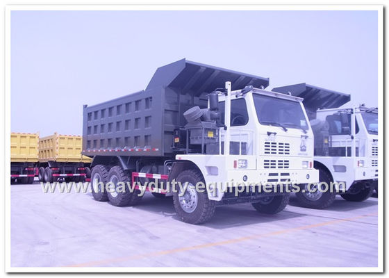 China HOWO 70tons Off road Mining Dump Truck Tipper 6*4 driving model 371hp with HYVA Hdraulic pump supplier