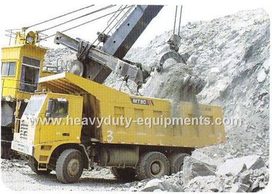 China Rated load 50 tons Off road Mining Dump Truck Tipper  drive 6x4 with 32 m3 body cargo Volume supplier