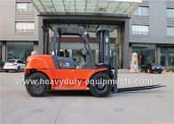 China 7000kg Industrial Forklift Truck CHAOCHAI Engine 600mm Load centre company