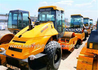 China Shantui Mechanical Single Drum Vibratory Road Roller 14T operating weight , 2130mm drum width factory