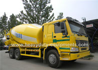 Concrete Construction Equipment Howo Concrete Cement Mixer Truck 336HP 9 / 10 Cbm With HW76 Cabin