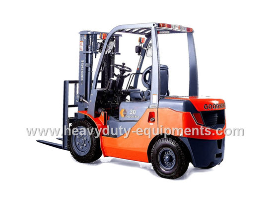 FY30 Gasoline / LPG forklift , 3000mm Lift Height Counterbalance Forklift Truck