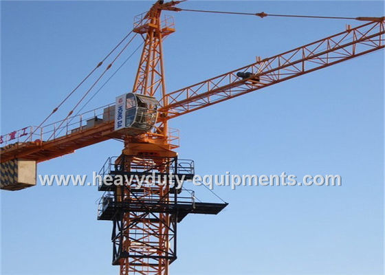 Heavy Duty Construction Tower Crane 34M Free Height 5 Tons Max Load