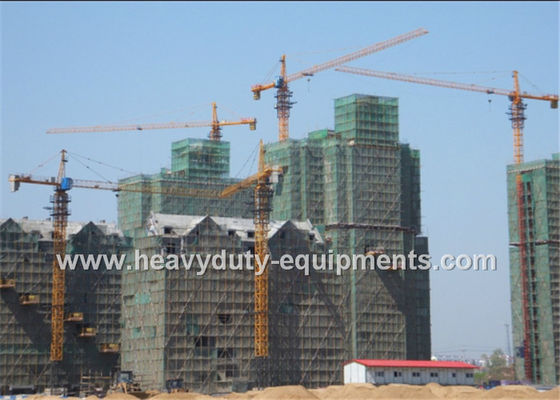 Tower crane with free height 50m and max load 10 T with warranty for construction