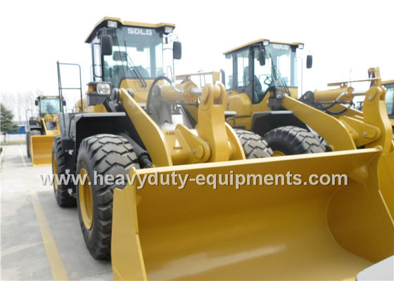 Heavy Duty Axle 5 Ton Wheel Loader DDE Engine With Snow Blade / Air Conditioner