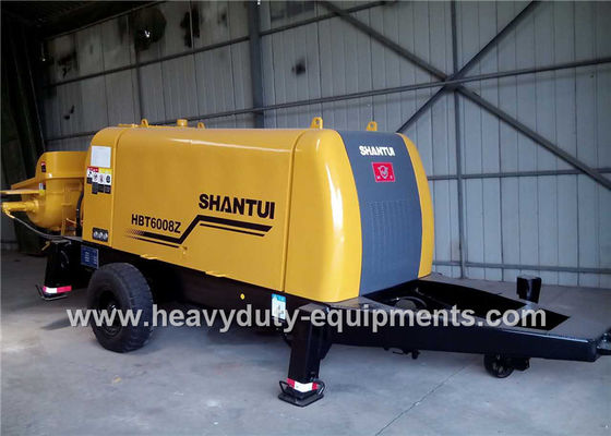 China SHANTUI HBT6008Z trailer pump adopted to achieve good concrete suction performance factory