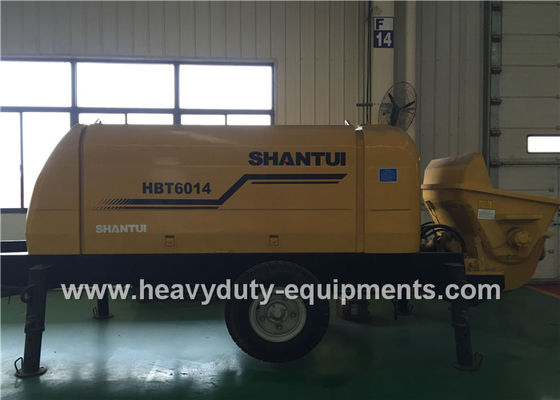 China SHANTUI HBT6016 trailer pump adopted to achieve good concrete suction performance factory