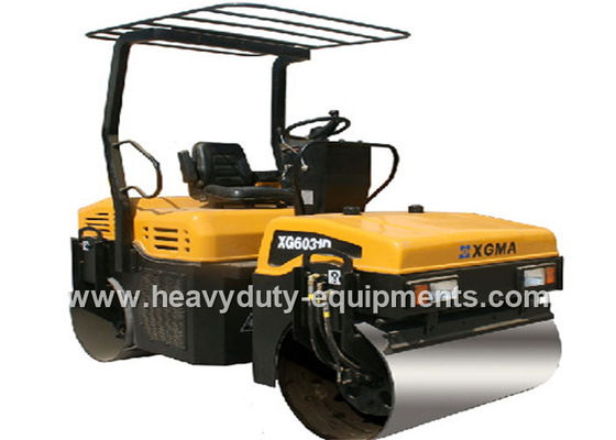 Light Duty Road Construction Equipment Tandem Vibratory Road Roller XG6031D With Sauer / Hercules Pumps