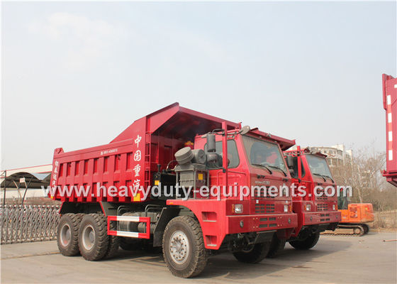Offroad Mining Dump Trucks / Howo 70 tons Mine Dump Truck with Mining Tyres