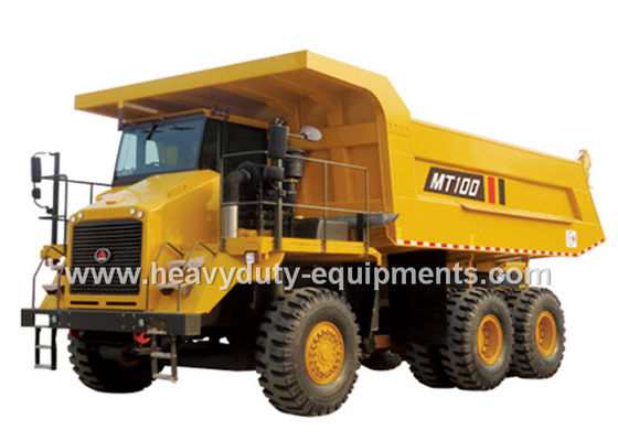 95 tons Off road Mining Dump Truck Tipper  405kW engine power drive 6x4 with 50m3 body cargo Volume