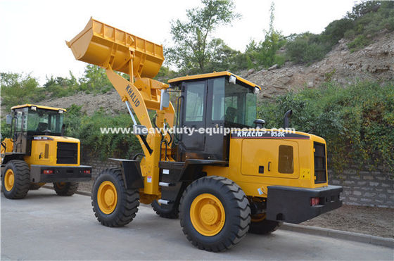 Sinomtp Lg933 3000kg Wheel Front End Loader With Wooden Fork And Rock Bucket