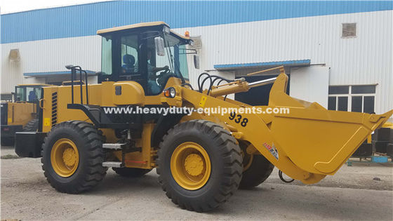 SINOMTP LG938L Wheel Loader 3tons Rated Loading Capacity With 92kw Deutz Engine
