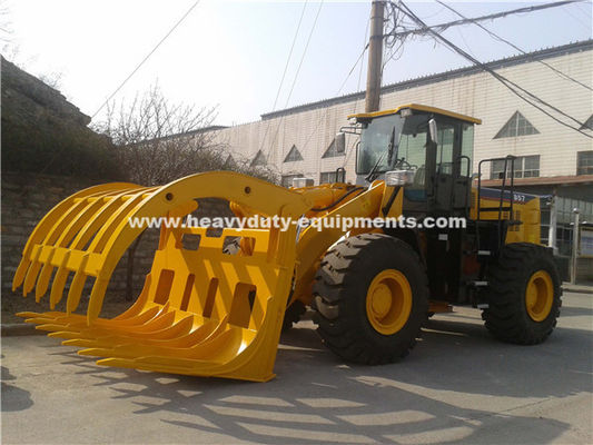 5 Tons Loading Capacity Wheeled Front End Loader 857 Model with Grass Grapple Cummins Engine for Option