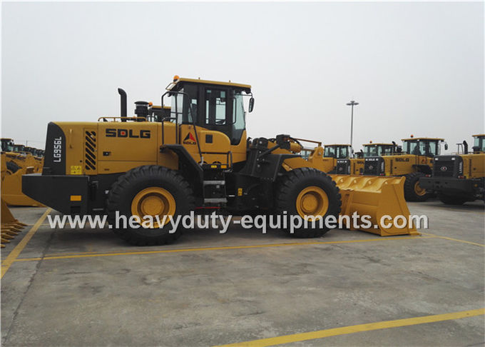 5Tons SDLG  Wheel Loader L956F With Pilot Control , 3m3 Rock Bucket , 162kw Weichai Engine