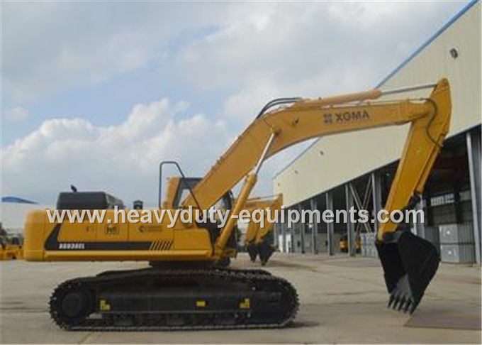 Crawler Mounted Hydraulic Mining Excavator Long Boom 4941mm Track Length