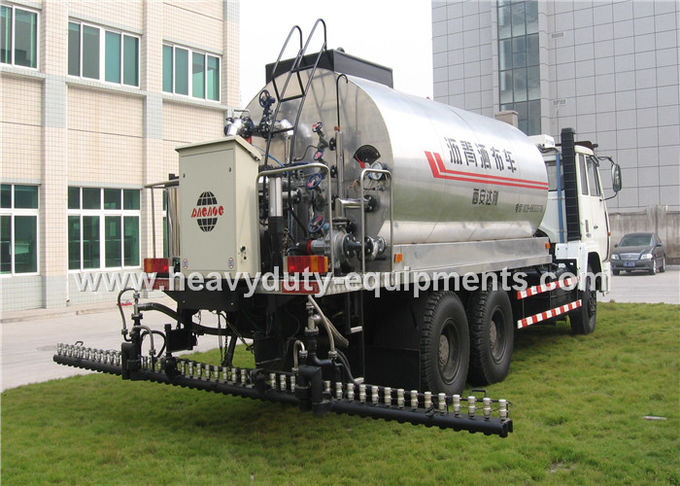 Truck Mounted Type Liquid Asphalt Tanker With Pump Output 5 Ton / H