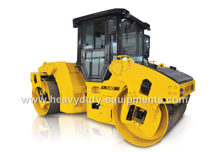 Double drum vibratory road roller SR14D-3with 14ton operating weight with cummins engine