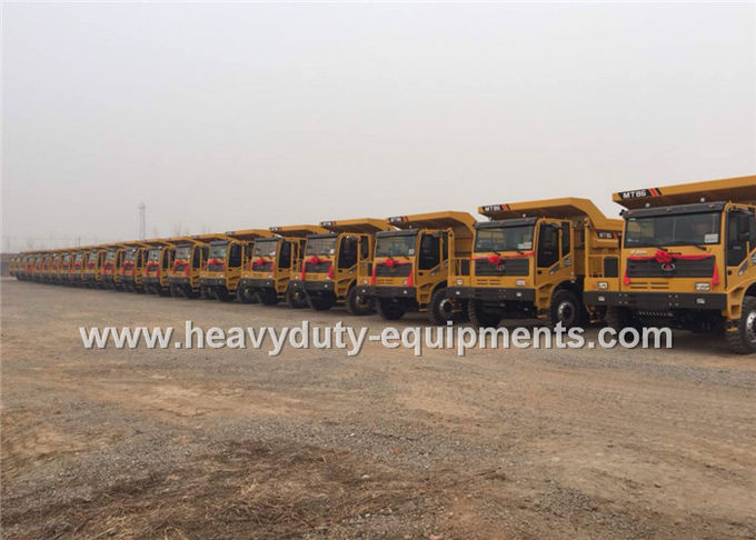 Rated load 55 tons Off road Mining Dump Truck Tipper  drive 6x4 with 35 m3 body cargo Volume